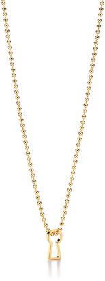 "Tiffany & Co. 1837TM Makers keyhole pendant in 18k gold, 24""."