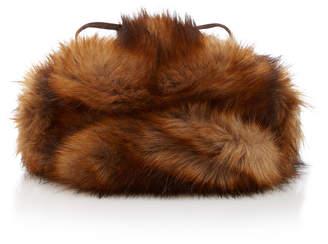 Albertus Swanepoel Leopard-Print Faux Fur Hat
