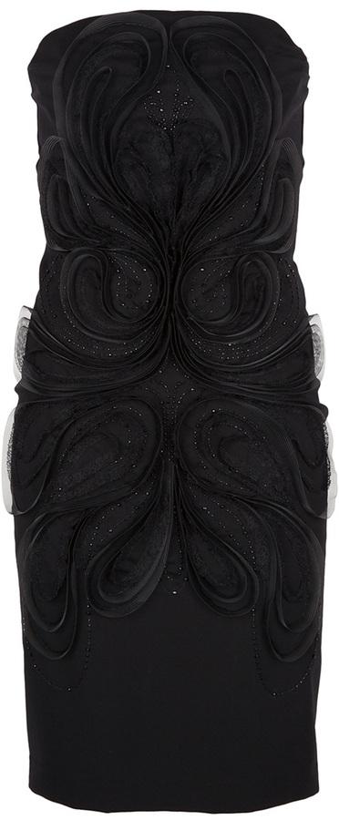 Fendi embellished strapless dress