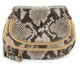 Donna Karan Convertible Snake Print Leather Clutch