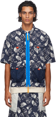 Brain Dead Navy The North Face Edition Boxy Short Sleeve Shirt