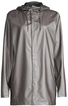 Rains Short Metallic Coat