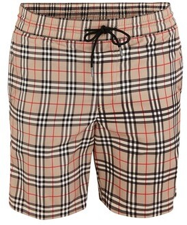 Burberry Small Scale Check Drawcord Swim Shorts
