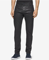 Calvin Klein Jeans Men's Slim-Fit Coated Black Jeans