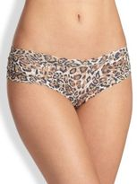 Hanky Panky Leopard-Print Cutout Signature Lace Cheeky Hipster