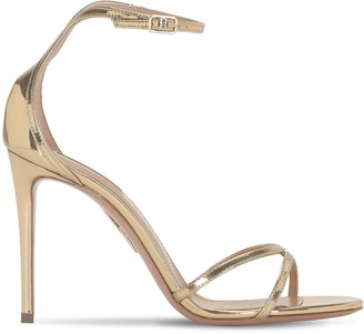 Aquazzura 105mm Purist Metallic Leather Sandals