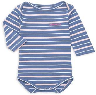 Maison Labiche Baby Girl's Amour Striped Cotton Bodysuit