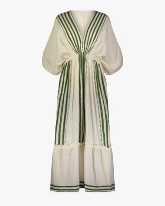 Lemlem Eshe Plunge-Neck Dress