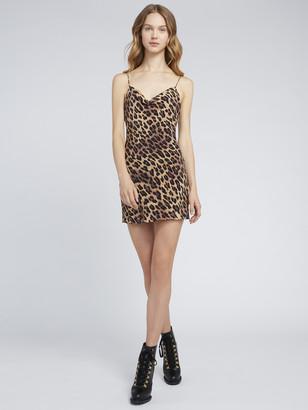 Alice + Olivia Harmony Leopard Mini Slip Dress