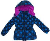 Pink Platinum Navy Heart Puffer Jacket - Infant Toddler & Girls