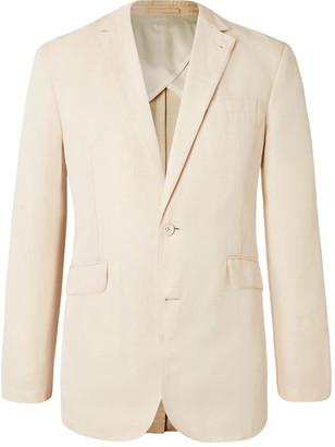 Orlebar Brown + 007 Bond Slim-Fit Unstructured Cotton And Linen-Blend Suit Jacket