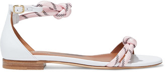 Malone Souliers Fenn Knotted Cord And Leather Sandals