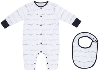 Emporio Armani Kids Logo cotton onesie and bib set