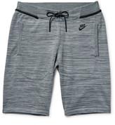 Nike Mélange Tech Knit Cotton-blend Shorts - Gray