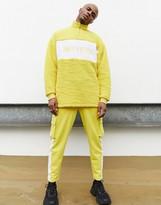 Asos Design DESIGN x Dark Future co-ord borg half zip sweatshirt with embroidery