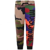 Boys Multi-Coloured Camouflage Tracksuit Bottoms