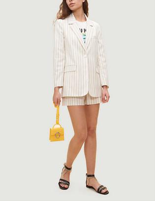 Claudie Pierlot Victoruse striped single-breasted stretch-woven blazer