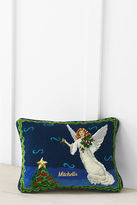 Lands' End 12 x 16 Needlepoint Angel Decorative Pillow