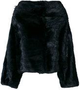Alberta Ferretti wide neck coat - women - Acetate/Viscose/Muskrat - 40
