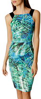 Karen Millen Vibrant Palm Print Dress, Black/White