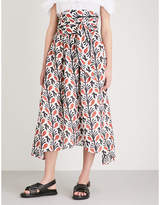 Apiece Apart Cosmo cotton and silk-blend midi skirt