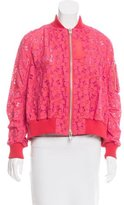Sacai Floral Embroidered Bomber Jacket w/ Tags