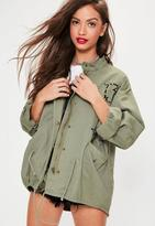 Missguided Badge Details Parka Jacket