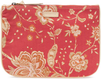 Zimmermann Leather-trimmed Printed Cotton-canvas Pouch