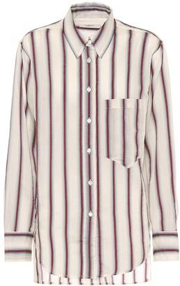 Etoile Isabel Marant Yvana striped cotton-blend shirt