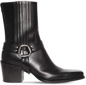DSQUARED2 120mm Leather Boots W/ Rings