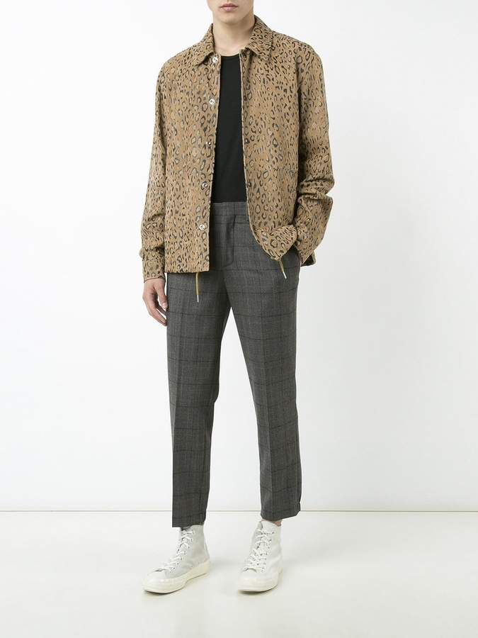 Alexander Wang Leopard print coach shirt jacket