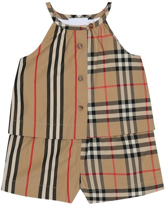 BURBERRY KIDS Baby Alice Vintage Check playsuit