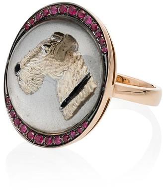 Francesca Villa Crystal Woof Woof Ring