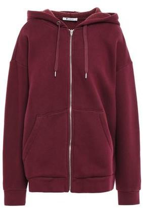 Alexander Wang Cotton-blend Fleece Hooded Jacket