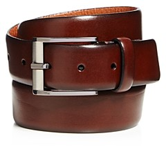 Trafalgar Men's Matteo French Calf Leather Belt