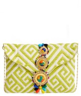 Steven By Steve Madden Beaded & Embroidered Clutch - Yellow
