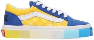 Vans Color Block Leather & Cotton Sneakers