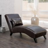 Christopher Knight Home Charlotte Brown Bonded Leather Chaise Lounge