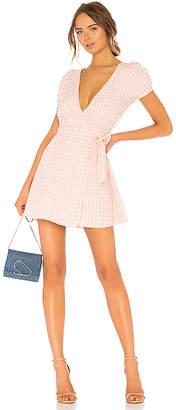 LPA Back Cutout Wrap Dress