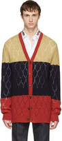Gucci Tricolor Wool Cardigan