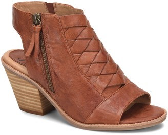 Sofft Leather Woven Peep-Toe Sandals - Mckenna
