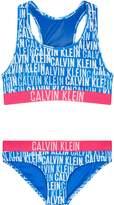 Calvin Klein Logo Print Bralette Bikini