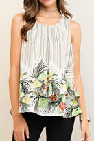 Entro Stripe Floral Top