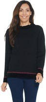 Denim & Co. Studio by Bell-Sleeve Sweater with Chenille Trim