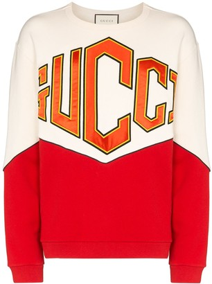Gucci Logo-Embroidered Panelled Sweatshirt