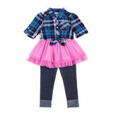 Little Lass Flannel Tutu Set - Toddler Girls 2t-4t