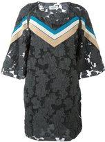 Aviu stripe accent floral dress