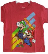 Super Mario Big Boys Cartoon Character Printed T-Shirt