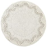 Pier 1 Imports White Ripple Beaded Placemat