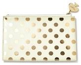 Kate Spade Foil Dot Pencil Pouch Set - Metallic